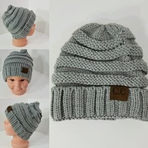 Other - Baby Beanie hats thermal protective outdoors Gray